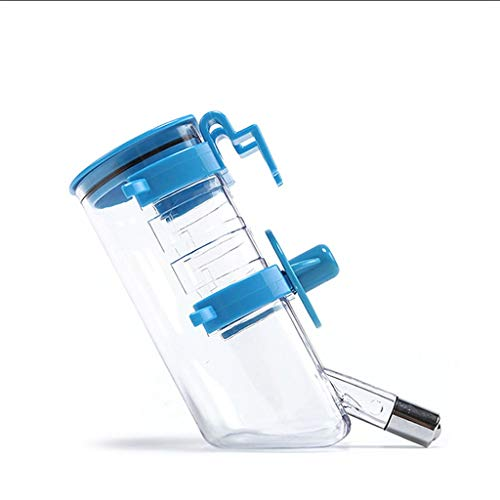 AUTOMATIC Wasserspender Trinkflasche Unterwegs Tierzubehör Wasser Flasche Zum Aufhängen Für Hunde Katze Welpen Kaninchen Haustier (Color : Blue)