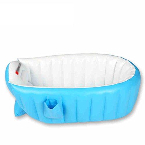 Baignoire Gonflable bébé Isolation épaisse Bleue Baignoire pour Nouveau-né Baignoire pour bébé Baignoires et sièges de Bain