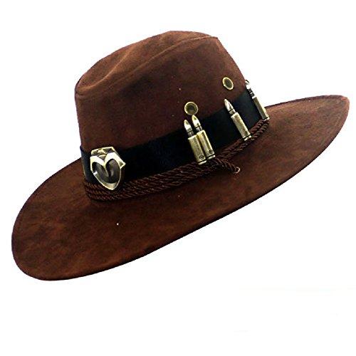 Kostüm Stitch Hut - POMUTRE McCree Hüte Cosplay Spiel OW Zubehör Fancy Cowboy Hüte Caps Hut