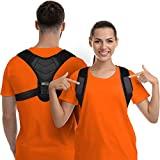 Houding Corrector voor mannen en vrouwen - Bovenrug Brace Straightener met verstelbare ademende sleutelbeen ondersteuning effectief voor nek, rug en schouder pijn verlichting lumbale ondersteuning (Unisex)