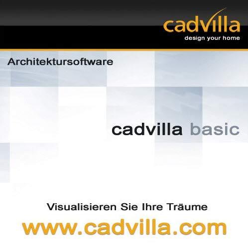 cadvilla basic - Architektur 2D/3D Hausplaner Software / Programm -