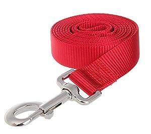 Laisse de dressage Laisse Corde Robuste en Nylon pour Chiens 3M /5M/ 10M/ 15M Rose/Rouge/Noir