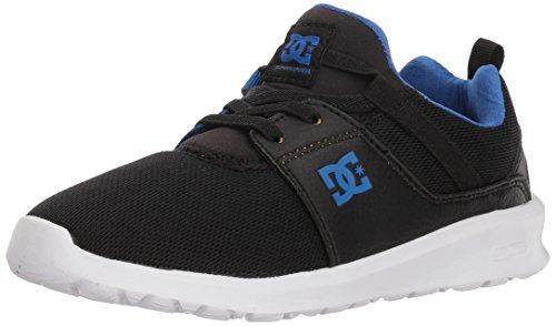 DC Boys' Heathrow Skate Shoe, Black/Royal, 3 M M US Little Kid