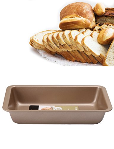 Bandeja de horno rectangular antiadherente Golden Rule, bandeja para horno 8.5 inches Gold
