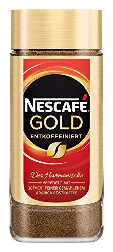 Nescafé Gold Entkoffeiniert löslicher Bohnenkaffee (aus erlesenen Kaffeebohnen, ohne Koffein,...
