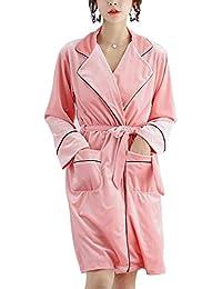 OLLIUGE Pijamas para Mujer para Mujer De Lujo Albornoz Bata Suave Cómodo Camisón Pijamas Hotel SPA
