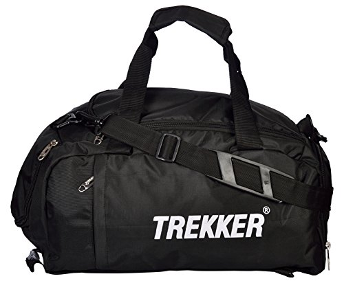 Trekker Poly Nylon 37.125 Liters Black Gym Tote
