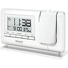 Oregon Scientific RM 308P - Réveil avec projection d'heure et double alarme (blanc)