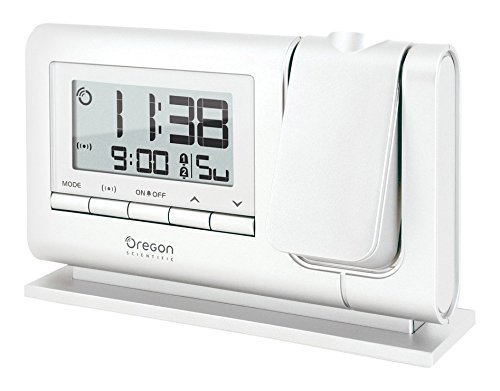 Oregon Scientific RM308P - Reloj Despertador con doble alarma y repetición snooze, Blanco Puro