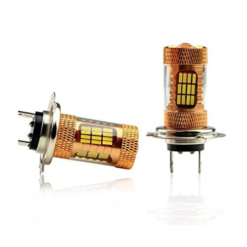 Preisvergleich Produktbild Ultra Weiß H76000K 401454SMD HID Leuchtmittel Low Beam CREE LED Head Light Lampen 2x