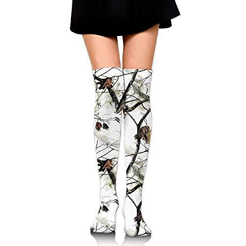 CVDGSAD White Realtree Camo Over The Knee Lange Socken Tube Thigh-High Sock Stockings for Girls & Womens -