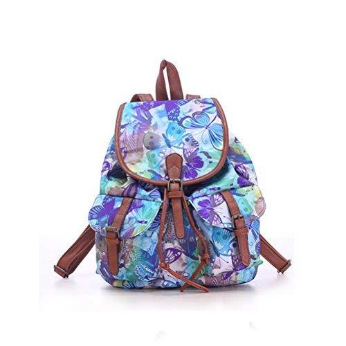 WINOMO Mädchen Damen Drawstring Canvas Rucksack Rucksack School Bag lässig Tasche Daypack -