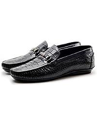 Dilize - Zapatos de cordones de Piel para hombre, color marrón, talla 41 EU