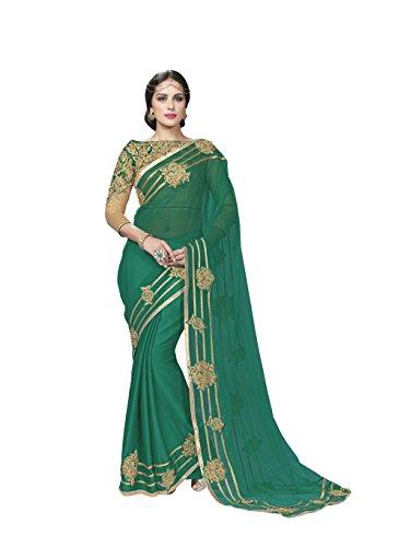 Mahotsav Chiffon Saree (9032_Green)  available at amazon for Rs.1960