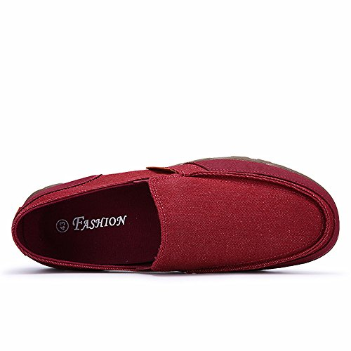Hishoes, Mocassins Pour Homme Deep Red