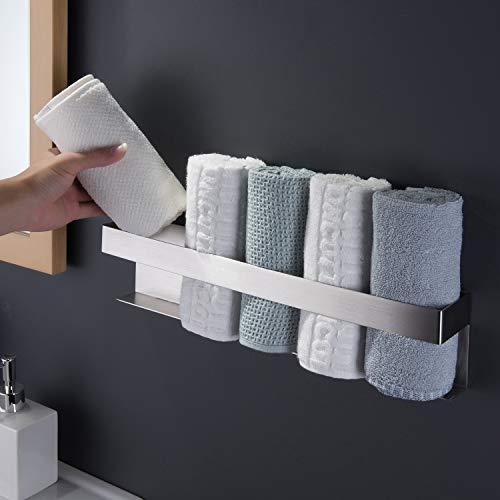 ZUNTO Gästehandtuchhalter 40cm Selbstklebend Ohne Bohren Handtuchhalter Edelstahl Handtuchregal Badezimmer