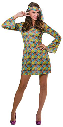 Sexy Kostüm Hippie Shirt - Brandsseller Damen Kostüm Verkleidung Fasching Karneval Party - Hippie - S/M