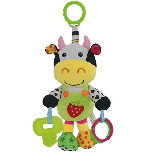 ACME Plüsch Kuh Spielzeug für Baby Bunt (Kuh Rassel)
