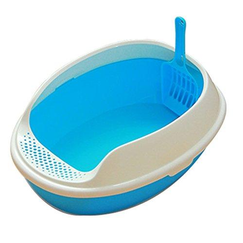 nikgic Animal Pot inodoro WC para perros, gato, cachorro Puppy y animales de compañía Cuenca de arena de gato
