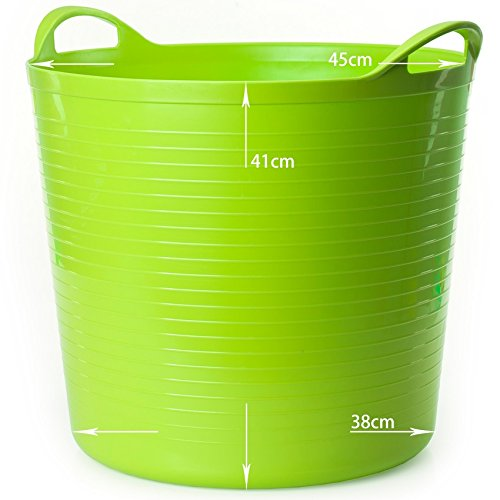 Storage basket Kinder Bad Barrel 1-3-5 Jahre alt Baby Bad Eimer Plastikwanne Spielzeug Lagerung Eimer schmutzige Kleidung Ablagekorb Wäschekorb (Farbe : Grün)