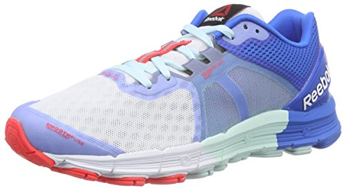 Reebok - One Guide 3.0, Sneakers da donna, multicolore (cool breeze/cycle blue/white/neon cherry), 42.5