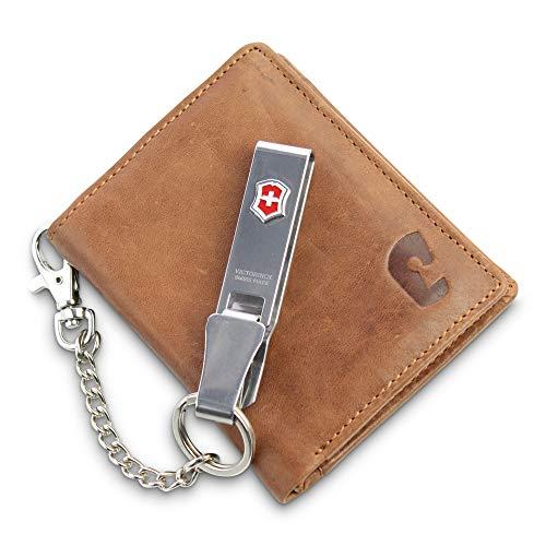 Safekeepers Portemonnaie Leder Hochformat - Geldbörse RFID Blockierung - Hochformatbörse - Damen und Herren (Harley Davidson Damen Geldbörsen)