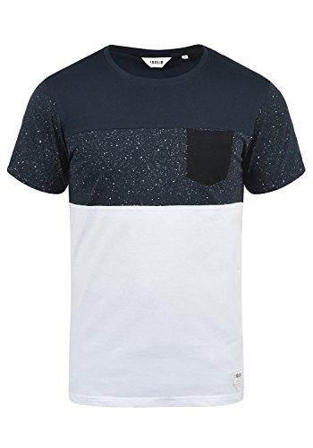 !Solid Kold Herren T-Shirt Kurzarm Shirt Mit Streifen Und Rundhalsausschnitt 100% Baumwolle, Größe:M, Farbe:Insignia Blue (1991) (T-shirt Streifen)