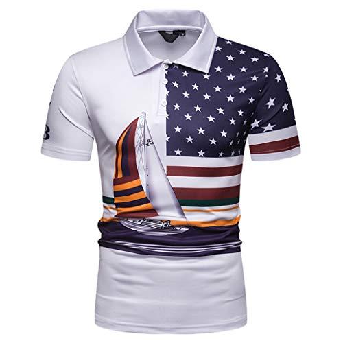 TEBAISE Herren Shirts Kurzarm Hemd Basic T-Shirt Große Größen Oberteil mit Knopfleiste und Hemdkragen Aus Weichem Baumwol Regular Fit in vielen Farben verfügbar