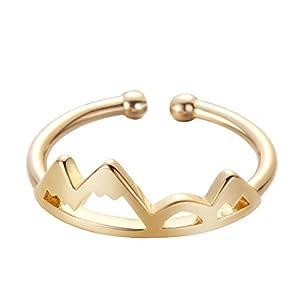 Mountain Ring, Snowcapped Mountain Schmuck für Damen Verstellbare Größe