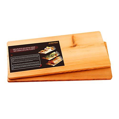41NShnAtwGL - IZIMU Grillbretter,Zedernholzbrett zum Grillen,Räucherbretter aus Zedernholz hergestellt aus 100% natürlichem Red Zedernholz,Grillbretter BBQ (2er Set)