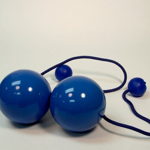Play Pair of Contact GIGA Poi with 100mm Stage Ball -Blue by Play (Giga-ball)