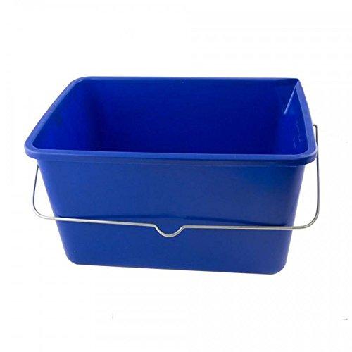 Kunststoff Wascheimer 12 Liter mit Metallhenkel blau