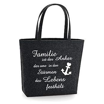 Tasche, Filztasche Familie, Anker, Shopper