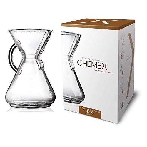 Chemex Kaffee-Karaffe (mit Glasgriff, für bis zu 10 Tassen)
