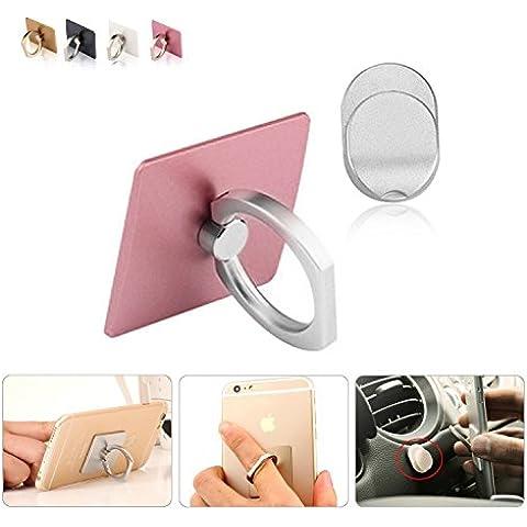 Los dedos agarre anillo Metal sostenedor del teléfono móvil con montaje de coche para iPhone 5 5s 6 6s iPad Samsung Galaxy S5 S6 S7 todos los Smartphones y tabletas