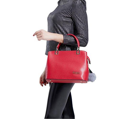 DISSA ES885 neuer Stil PU Leder Deman 2018 Mode Schultertaschen handtaschen Henkeltaschen,290×120×230(mm) Rot