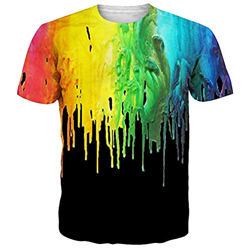 NEWISTAR Unisex Jugend 3D Druck Grafik Casual Kurzarm T-Shirt T-Shirts