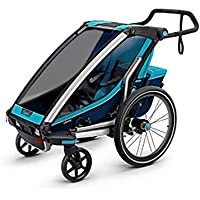 Susulv-baby 360 Swivel 2-In-1 Double Child Two-Wheel Bicycle Cargo Trailer And Jogger With 2 Safety Harnesses Converts to Stroller/Jogger (Color, Size : Free size)