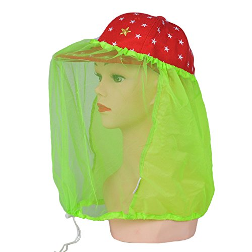 elastic-insectes-head-net-mesh-masque-anti-mosquito-bug-bee-brillant-vert