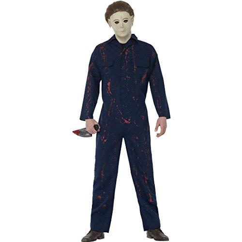 Amakando H20 Halloweenkostüm - M (48/50) - Serienmörder Karnevalskostüm Massenmörder Männerkostüm Serienkiller Herrenkostüm Horrorfilm Outfit Michael Myers Kostüm