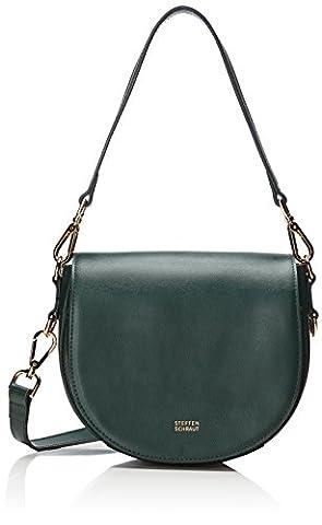 Steffen Schraut Damen Hudson Saddle Bag I Umhängetasche, Grün (Malachite Green), 8x16x22 cm