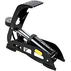 Fiveschoice Fahrradpumpe Autoventil Fußpumpe EinzylinderFußpumpe Mit Manometer 100PSI / 7bar Für Fahrrad Auto Motorrad Reifen Spielzeug Matratze