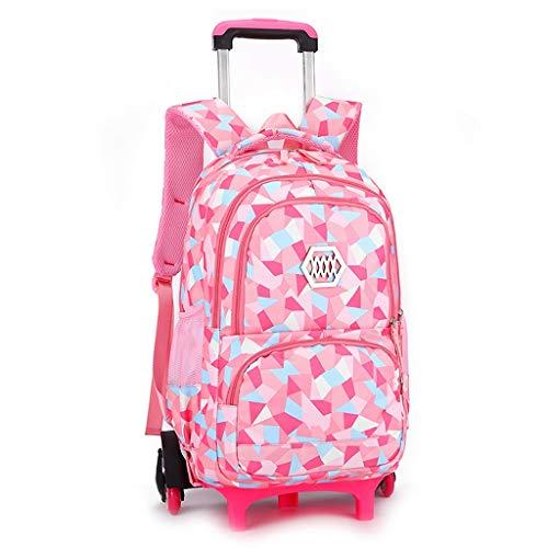C-Xka Zaino a rotelle impermeabile zaino da viaggio scuola di viaggi zaino multifunzionale zaino a tracolla borse da scuola studenti con sei ruote