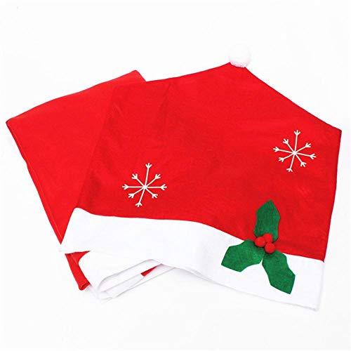 SPFAZJ Weihnachten Tischdecke + Weihnachten Schneeflocke Stuhl Kondom Stücke Weihnachtsschmuck (Clearance Schneeflocke Dekorationen)