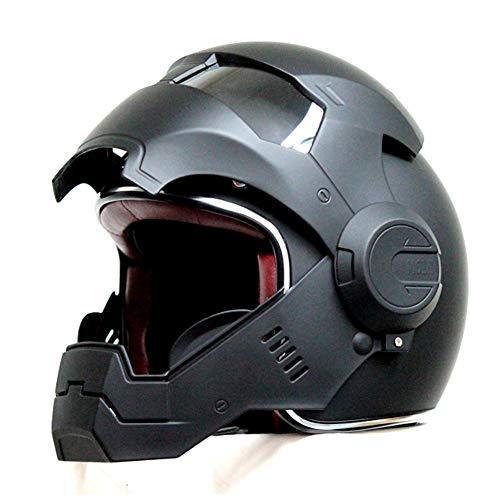 QHZ Harley Motorrad Jet Helm Abnehmbares Kinn Eingebautes Objektiv Modular DOT-Zertifizierter Integralhelm 3//4 Integralhelm Pilot Boy Girl Cruiser Integralhelm,1,M