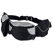 Trixie Sac Poche Baggy Belt Sangle Ventrale 62-125 cm Noir/Gris pour Chien