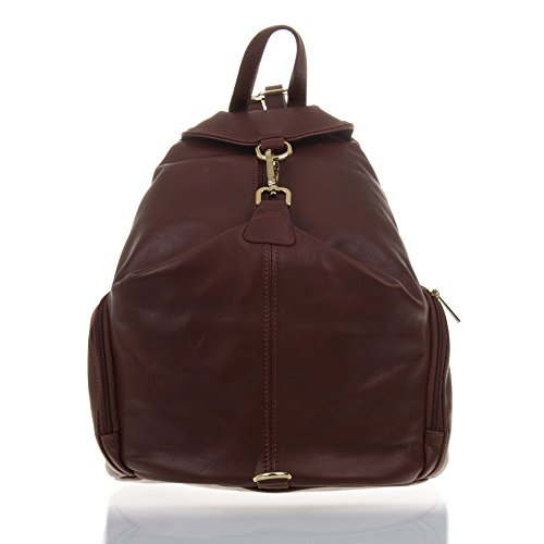 c5fd977a616ec Femmes casual en cuir sac à dos. Sac à dos grand sac en cuir véritable  sauvage doux au toucher et finitions de luxe. MADE IN ITALY.