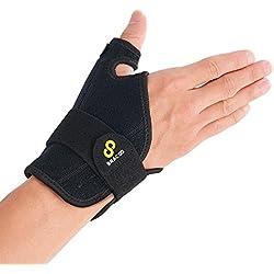 BRACOO Daumenbandage für die rechte und linke Hand – Daumenorthese – Daumenschutz   reversible Daumenschiene bei Karpaltunnel-Syndrom, Verstauchungen, Sehnenscheidenentzündung   Fulcrum Serie