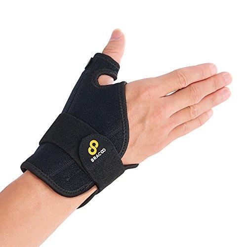BRACOO Daumenbandage für die rechte & linke Hand | reversible Daumenschiene bei Karpaltunnelsyndrom, Verstauchungen, Sehnenscheidenentzündung | TP32