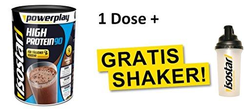 Isostar Powerplay High Protein 90 Choco mit Gratis Shaker (Choco) Plus Gratis Shaker